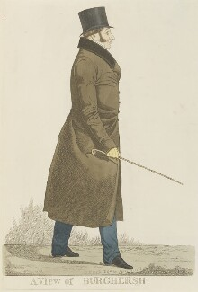 John Fane, 11th Earl of Westmorland ('A view of Burghersh'), by and published by Richard Dighton, reissued by  Thomas McLean - NPG D13356