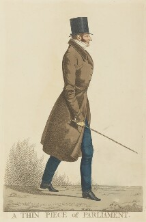 Henry Beauchamp Lygon, 4th Earl Beauchamp ('A thin piece of Parliament'), by and published by Richard Dighton - NPG D13364
