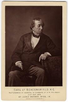 Benjamin Disraeli, Earl of Beaconsfield, by (Cornelius) Jabez Hughes - NPG x7740