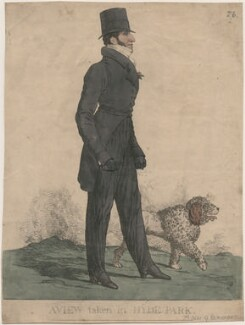 Henry Somerset, 7th Duke of Beaufort ('A view taken in Hyde Park'), by and published by Richard Dighton - NPG D13384