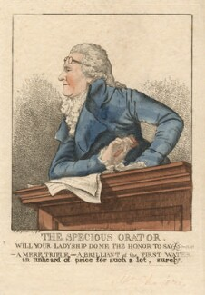 James Christie ('The specious orator'), by and published by Robert Dighton - NPG D13402