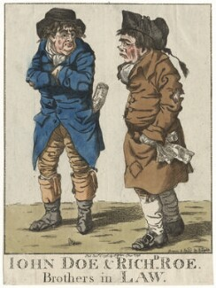 'John Doe & Richd Roe. Brothers in law', by and published by Robert Dighton - NPG D13404