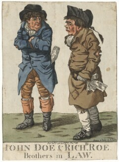 'John Doe & Richd Roe. Brothers in law', by and published by Robert Dighton - NPG D13405