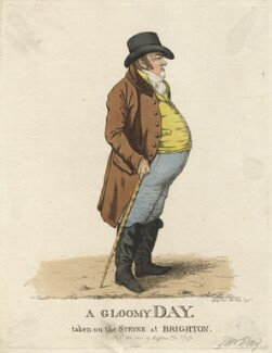 Matthew Day ('A gloomy day, taken on the Steyne at Brighton'), by and published by Robert Dighton - NPG D13408