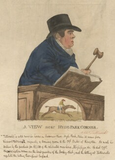 Edmund Tattersall ('A view near Hyde Park Corner'), by and published by Robert Dighton - NPG D13414