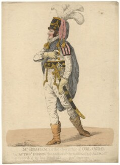 John Braham ('Mr Braham in the character of Orlando'), by and published by Robert Dighton - NPG D13416