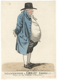 William Dalrymple ('Agamemnon a great general, taken on the Steyne at Brighton'), by and published by Robert Dighton - NPG D13418