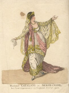 Angelica Catalani ('Madame Catalani in Semiramide'), by and published by Robert Dighton - NPG D13420