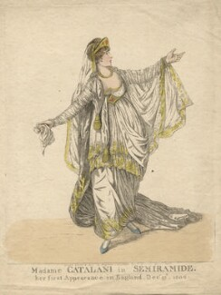 Angelica Catalani ('Madame Catalani in Semiramide'), by and published by Robert Dighton - NPG D13421