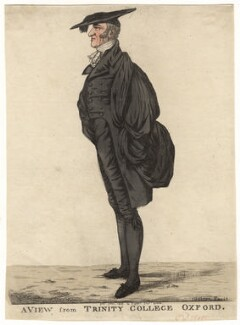 Henry Kett ('A view from Trinity College, Oxford'), by and published by Robert Dighton - NPG D13428