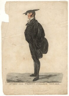 Henry Kett ('A view from Trinity College, Oxford'), by and published by Robert Dighton - NPG D13429