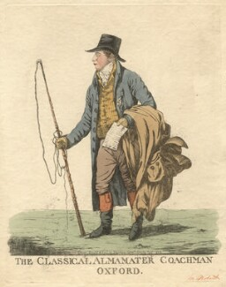 Tilleman Hodgkinson Bobart ('The classical almamater coachman, Oxford'), by and published by Robert Dighton - NPG D13436