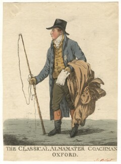 Tilleman Hodgkinson Bobart ('The classical almamater coachman, Oxford'), by and published by Robert Dighton - NPG D13437