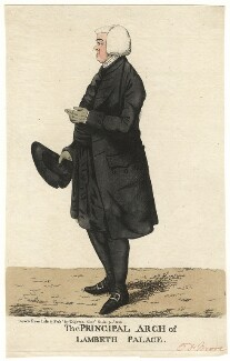 John Moore ('The Principal Arch of Lambeth Palace'), by and published by Robert Dighton - NPG D13439