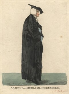John Eveleigh ('A view from Oriel College, Oxford'), by and published by Robert Dighton - NPG D13449