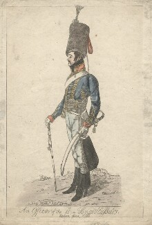 Francis Forrester ('An officer of the 15th, or Kings Hussars. Taken from life'), by Robert Dighton Jr - NPG D13485