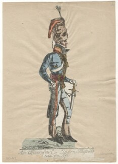 Sir Edward Kerrison, 1st Bt ('An officer of the 7th, or Queen's Hussars. Taken from life'), by Robert Dighton Jr - NPG D13487