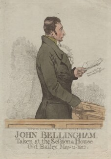 John Bellingham ('John Bellingham, taken at the Sessions House Old Bailey, May 15 1812'), by Denis Dighton - NPG D13488