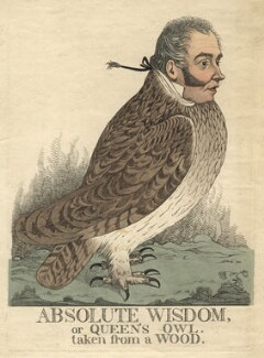 'Absolute wisdom, or Queen's owl. Taken from a wood' (Sir Matthew Wood, 1st Bt), by and published by Richard Dighton - NPG D13489