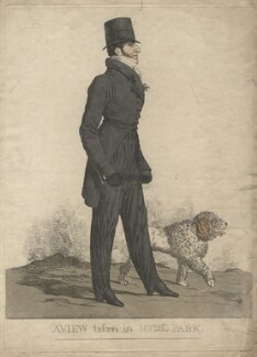 'A view taken in Hyde Park' (Henry Somerset, 7th Duke of Beaufort), by and published by Richard Dighton - NPG D13494