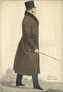 John Fane, 11th Earl of Westmorland ('A view of Burghersh'), by and published by Richard Dighton, reissued by  Thomas McLean - NPG D13526