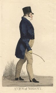 'A view of Nugent' (George Nugent Grenville, Baron Nugent), by and published by Richard Dighton - NPG D13529