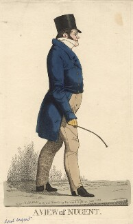 'A view of Nugent' (George Nugent Grenville, Baron Nugent), by and published by Richard Dighton - NPG D13530