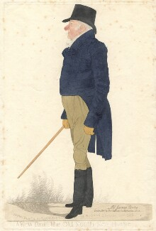 James Curtis ('A view from the Old South Sea House'), by and published by Richard Dighton, reissued by  Thomas McLean - NPG D13532