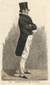 Thomas Massa Alsager ('The mirror of the Times'), by and published by Richard Dighton, reissued by  Thomas McLean, published August 1823 - NPG D13535 - © National Portrait Gallery, London