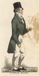 Sir Walter George Stirling, 2nd Bt ('A stirling banker'), by and published by Richard Dighton - NPG D13546