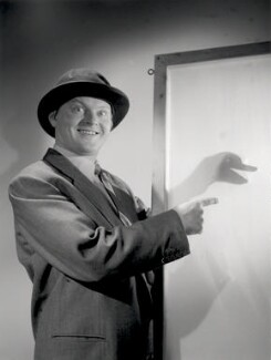 Benny Hill, by Count Zichy (Count Theodor Zichy), for  Baron Studios, 1954 - NPG x125595 - © National Portrait Gallery, London