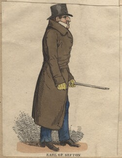 William Philip Molyneux, 2nd Earl of Sefton, by Richard Dighton, published by  Thomas McLean - NPG D13631