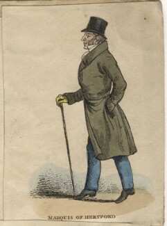 Francis Charles Seymour-Conway, 3rd Marquess of Hertford, by Richard Dighton, published by  Thomas McLean - NPG D13640
