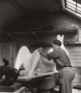 Henry Moore, by Lola Walker (Lola Marsden) - NPG x125630