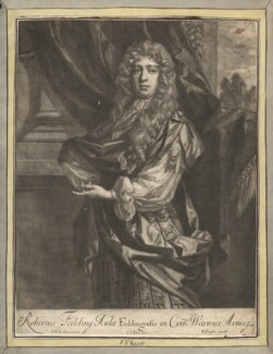 Robert ('Beau') Feilding, by Jan van der Vaart, published by  Richard Tompson, after  Sir Peter Lely - NPG D13672