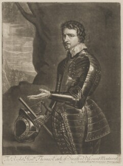 Thomas Wentworth, 1st Earl of Strafford, printed and sold by Philip Overton, after  Sir Anthony van Dyck - NPG D13682