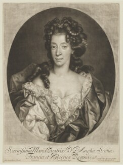 Mary of Modena, by John Smith, published by  Alexander Browne, after  Nicolas de Largillière, 1686 - NPG D13685 - © National Portrait Gallery, London
