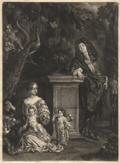 Nicolas de Largillière; his wife and his son and daughter, by Isaac Beckett, after  Nicolas de Largillière - NPG D13683