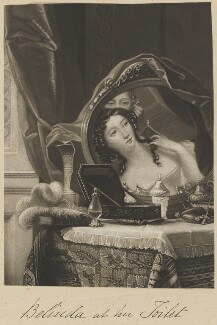 'Belinda at her toilet', by William Say, after  Henri Jean-Baptiste Victoire Fradelle - NPG D11310