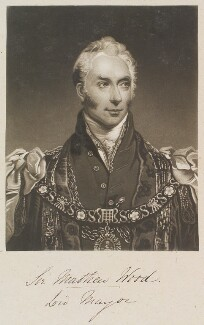 Sir Matthew Wood, 1st Bt, by William Say, after  Arthur William Devis - NPG D11315