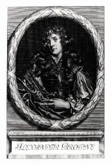 Alexander Browne, by Arnold de Jode, after  Jacob Huysmans, published 1669 - NPG D13686 - © National Portrait Gallery, London