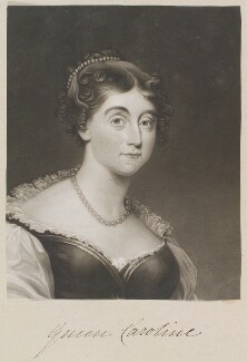 Caroline Amelia Elizabeth of Brunswick, by and published by William Say, after  Arthur William Devis - NPG D11321