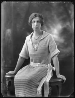 Hon. Violet Averil Margaret Campbell, by Bassano Ltd - NPG x121783