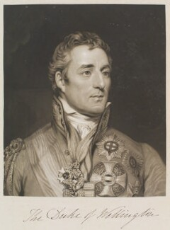 Arthur Wellesley, 1st Duke of Wellington, by and published by William Say, after  Thomas Phillips - NPG D11325