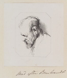 'Head', by William Say, after  Rembrandt - NPG D11336