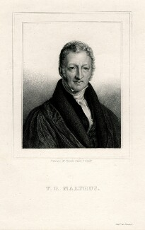 Thomas Robert Malthus, probably by Amable Nicolas Fournier, printed by  Drouart, after  John Linnell - NPG D13689