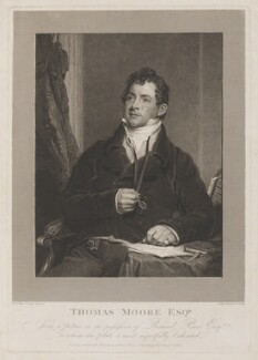 Thomas Moore, by John Burnet, published by  James Carpenter, after  Sir Martin Archer Shee - NPG D13692
