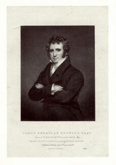 James Sheridan Knowles, by Richard James Lane, printed by  Charles Joseph Hullmandel, published by  R. Findley, after  Chester Harding - NPG D13695