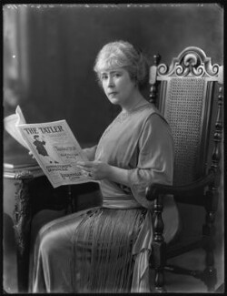 Edith Johnston (née Clarke), by Bassano Ltd - NPG x121859