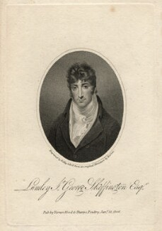 Sir Lumley St George Skeffington, by Ridley & Holl, published by  Vernor, Hood & Sharpe, after  John Thomas Barber Beaumont (John Thomas Barber) - NPG D13713